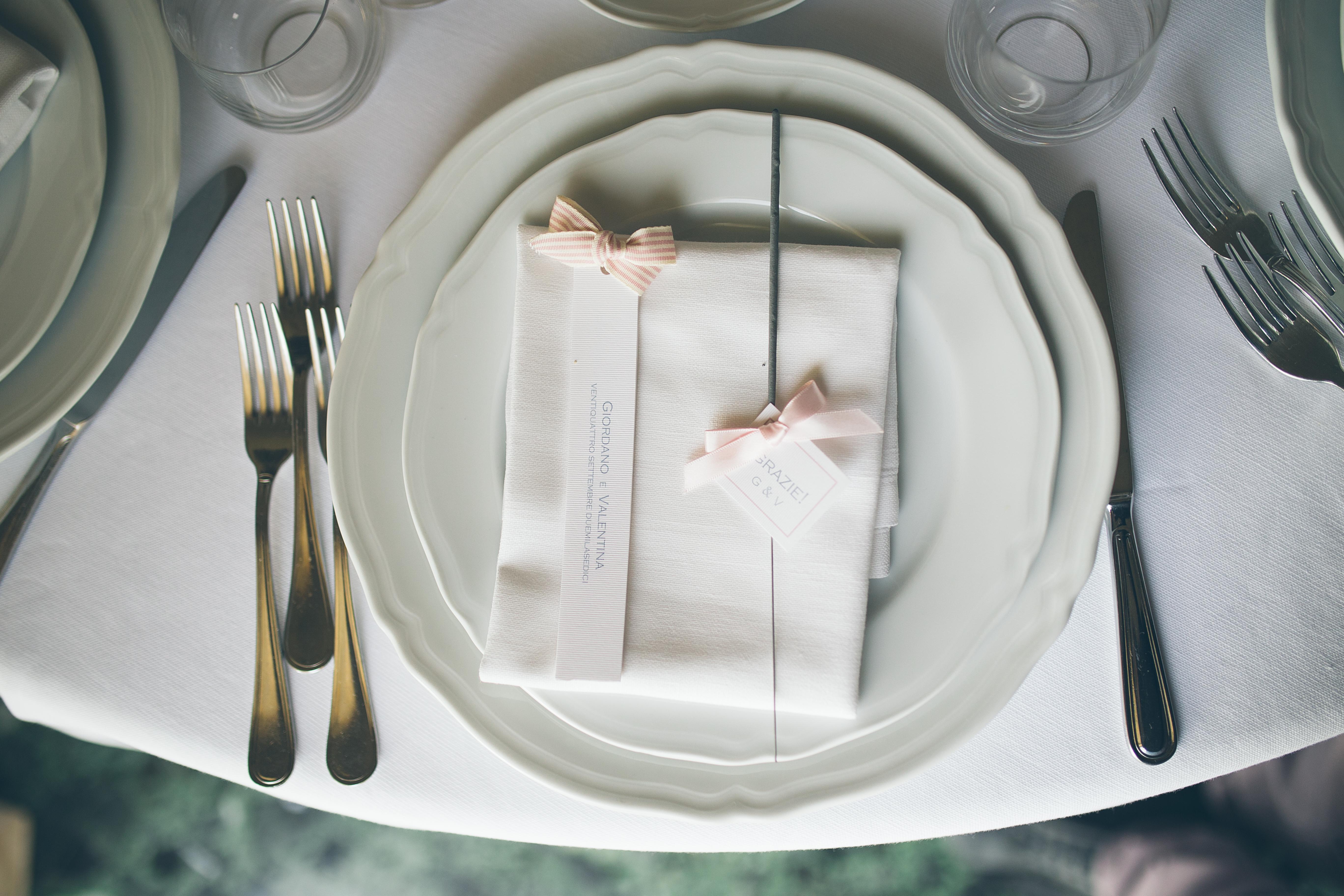 menu wedding favours