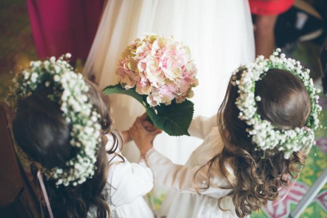 damigelle e bouquet sposa