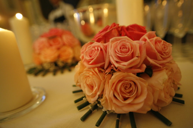 centrotavola rose